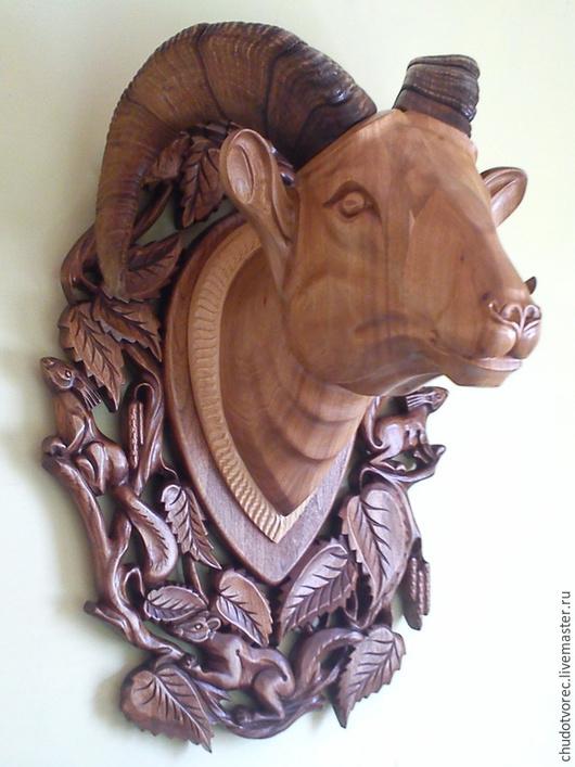 Голова барана с рогами ( скульптура). Дорогой подарок к юбилею.