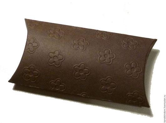 """Свадебные аксессуары ручной работы. Ярмарка Мастеров - ручная работа. Купить Бонбоньерка 12х6,5 см """"Цветочки"""" шоколадная. Handmade."""