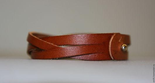 Браслеты ручной работы. Ярмарка Мастеров - ручная работа. Купить Кожаный плетеный браслет. Handmade. Коричневый, универсальный подарок