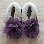 Одежда детская handmade. Livemaster - original item Children`s fur slippers made of sheepskin