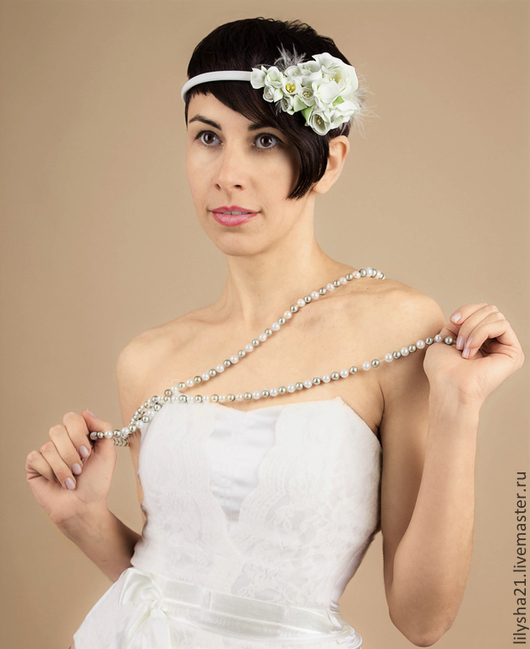 """Диадемы, обручи ручной работы. Ярмарка Мастеров - ручная работа. Купить Ободок """"Волшебство цветов"""". Handmade. Белый, ободок для девочки"""