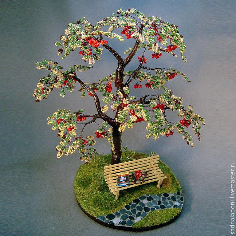 Деревья из бисера осень картинки