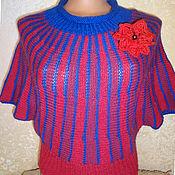 Одежда ручной работы. Ярмарка Мастеров - ручная работа Джемпер красно-синий. Handmade.