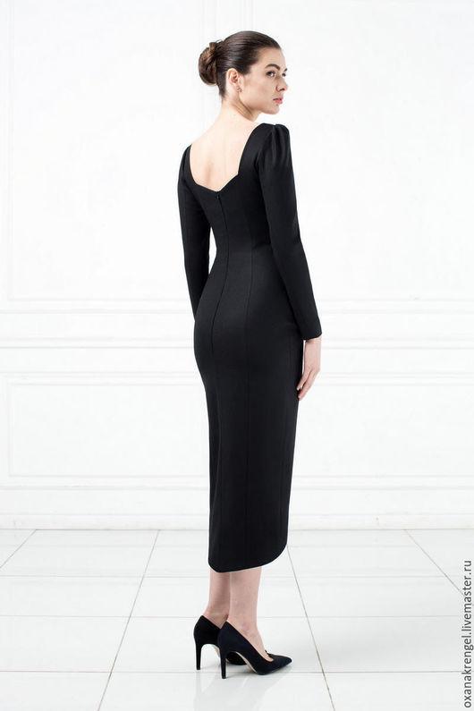 Платья ручной работы. Ярмарка Мастеров - ручная работа. Купить Платье-футляр черного цвета. Handmade. Черный, платье коктейльное