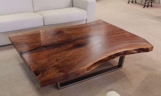 Мебель ручной работы. Ярмарка Мастеров - ручная работа. Купить Журнальный стол из слэба ореха.. Handmade. Стол, мебель из дерева