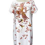 Одежда ручной работы. Ярмарка Мастеров - ручная работа Sale! -50% Платье шелковое нарядное с вышивкой. Handmade.