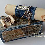 Подарки к праздникам ручной работы. Ярмарка Мастеров - ручная работа Свиток - поздравление. Handmade.