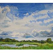 Картины и панно ручной работы. Ярмарка Мастеров - ручная работа облака. Handmade.