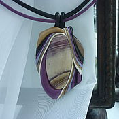 """Украшения ручной работы. Ярмарка Мастеров - ручная работа гривна """" deep purple"""". Handmade."""