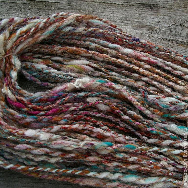 пестрая пряжа для вязания