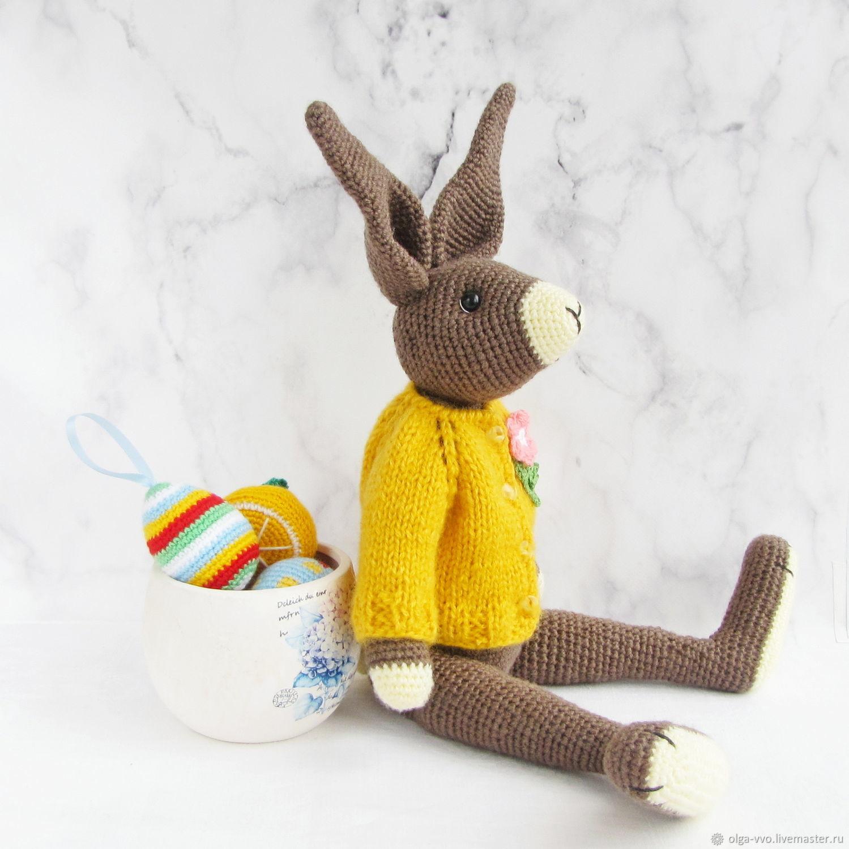 Кролик, вязаная игрушка ручной работы, Мягкие игрушки, Кемерово,  Фото №1