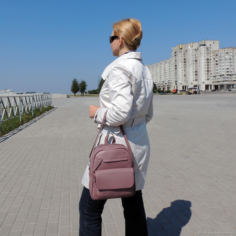 Online shopping on My Backpacks handmade. Order Backpack leather ladies  purple Tristan. Natalia Kalinovskaya. Livemaster. 036bc3c69057b
