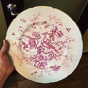 Винтаж handmade. Livemaster - original item plate with cranes Coalport Cairo England 1954.. Handmade.