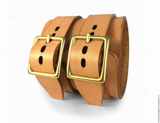 Браслеты ручной работы. Ярмарка Мастеров - ручная работа. Купить Кожаный браслет JD DOUBLE - натуральный. Handmade. Натуральная кожа