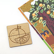 Пазлы, головоломки ручной работы. Ярмарка Мастеров - ручная работа Деревянные пазлы для малышей. Handmade.