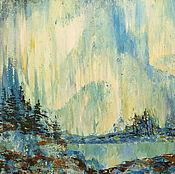 Картины и панно ручной работы. Ярмарка Мастеров - ручная работа Картина Северное сияние. Handmade.