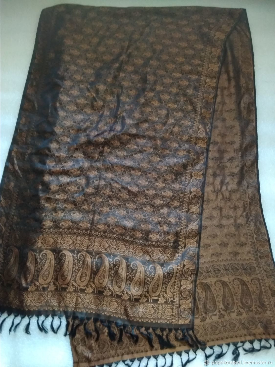 Stole With Paisley Pattern Silk Vintage Germany Shop Online On