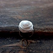 "Украшения handmade. Livemaster - original item Кольцо с жемчужиной ""Муза"". Handmade."