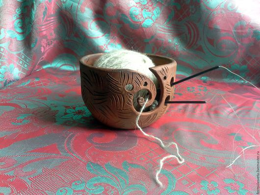 Вязание ручной работы. Ярмарка Мастеров - ручная работа. Купить Чаша для вязального клубка. Handmade. Коричневый, чаша для вязания
