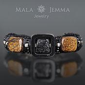 Украшения handmade. Livemaster - original item Exclusive Men`s Jewelry Gemstone Bronzite Obsidian. Handmade.