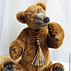 Мишки Тедди ручной работы. Заказать бурый медведь Бернард (40 см.,рычит). Романова Юлия (September Bears). Ярмарка Мастеров.