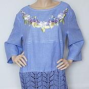 Одежда handmade. Livemaster - original item Dress linen-silk-cotton