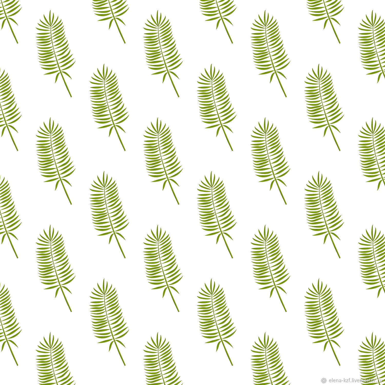 Набор бесшовной цифровой бумаги абстрактные листья, Иллюстрации, Киев,  Фото №1