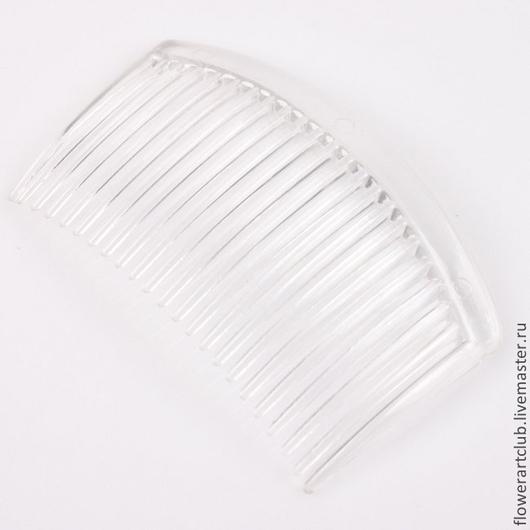 Другие виды рукоделия ручной работы. Ярмарка Мастеров - ручная работа. Купить Гребешок-пластик - чёрный и прозрачный. Handmade.