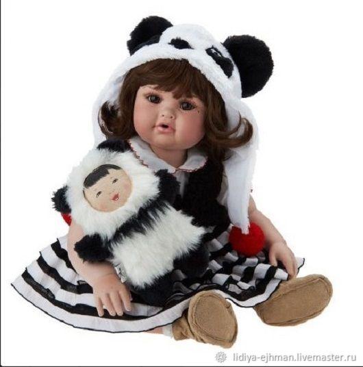 Малышка Пандочка, Интерьерная кукла, Салехард,  Фото №1