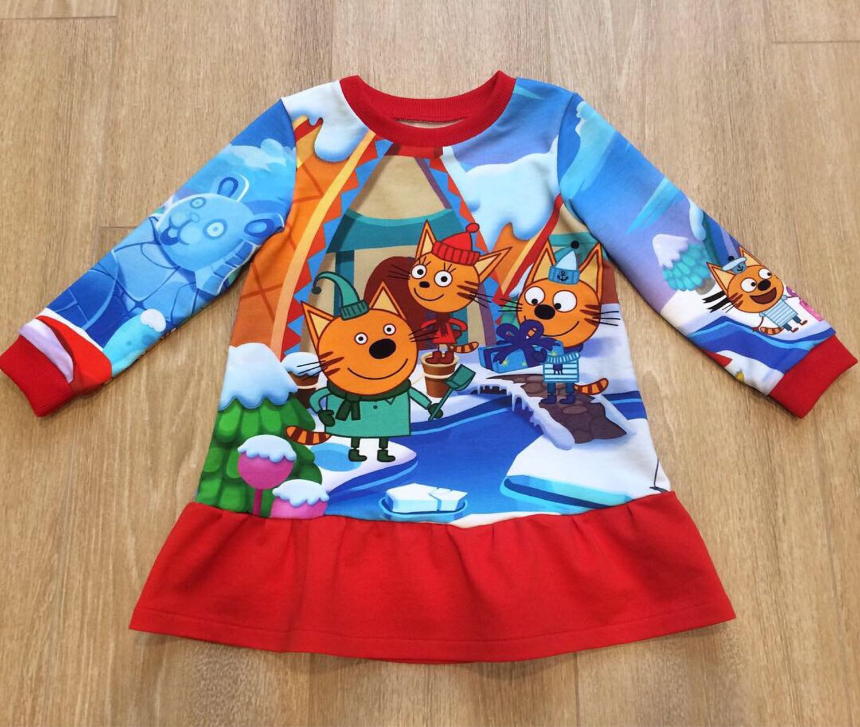 Трикотажное платье Мультфильмы