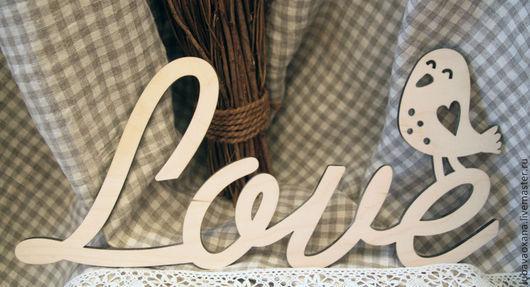 Свадебные аксессуары ручной работы. Ярмарка Мастеров - ручная работа. Купить Слова Love. Handmade. Слова, фанера 6мм