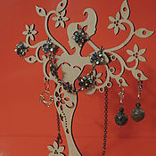 Сувениры и подарки ручной работы. Ярмарка Мастеров - ручная работа подставка под украшения, девушка. Handmade.