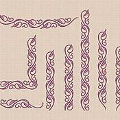 Материалы для творчества handmade. Livemaster - original item Machine embroidery designs set of curbs bt102b. Handmade.