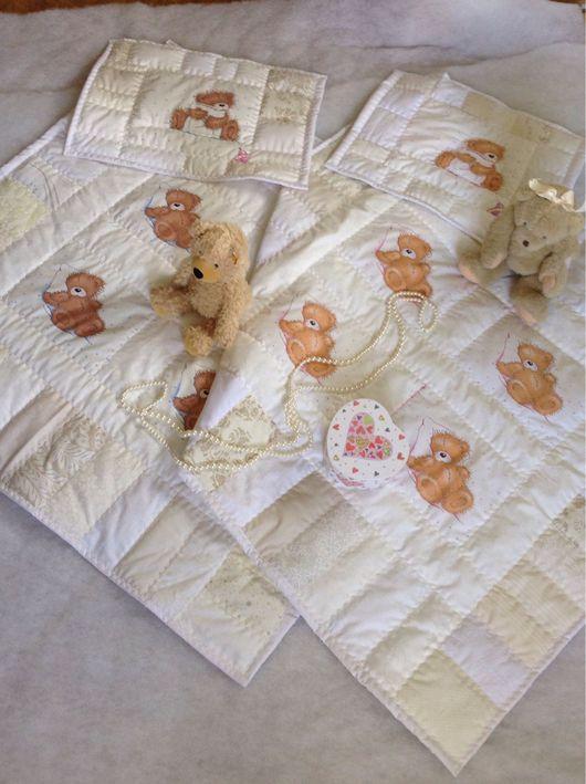 Пледы и одеяла ручной работы. Ярмарка Мастеров - ручная работа. Купить Тедди белоснежное , подушечка по желанию в наличии. Handmade. Белоснежные