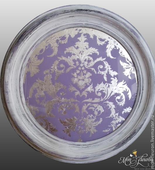 Зеркала ручной работы. Ярмарка Мастеров - ручная работа. Купить Панно  Libelle (Стрекоза). Handmade. Сиреневый, панно, интерьерное украшение