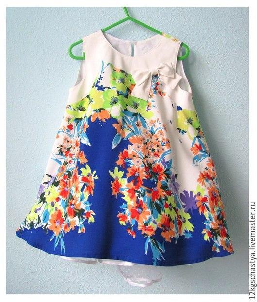 Одежда для девочек, ручной работы. Ярмарка Мастеров - ручная работа. Купить Платье детское летнее. Handmade. Разноцветный, сарафан