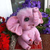Куклы и игрушки handmade. Livemaster - original item Elephant pink. Handmade.