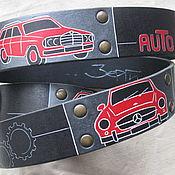 Аксессуары handmade. Livemaster - original item MY MERCEDES strap leather. Handmade.