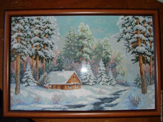 Пейзаж ручной работы. Ярмарка Мастеров - ручная работа. Купить Природа. Handmade. Интерьер дома, Вышивка крестом, лес