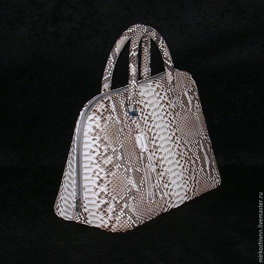 Женские сумки ручной работы. Ярмарка Мастеров - ручная работа. Купить Сумка из кожи питон, кожаная сумка, сумка женская. Handmade.