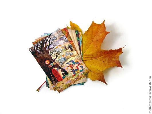 """Открытки на все случаи жизни ручной работы. Ярмарка Мастеров - ручная работа. Купить Комплект из 3-ёх открыток """"Ёжики"""". Handmade."""