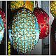 Подарки на Пасху ручной работы. Ярмарка Мастеров - ручная работа. Купить Золотистое пасхальное яйцо из бисера. Handmade. Пасха