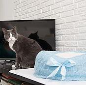"""Для домашних животных, ручной работы. Ярмарка Мастеров - ручная работа Лежанка для котика """"Голубая мечта"""". Handmade."""