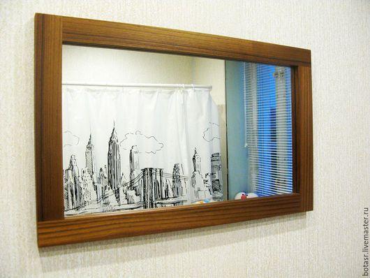 Зеркала ручной работы. Ярмарка Мастеров - ручная работа. Купить зеркало из тика в ванную комнату. Handmade. Тик, зеркало в ванную