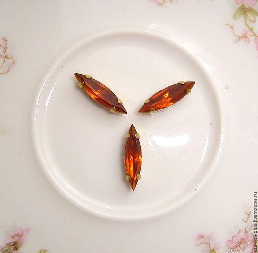 Для украшений ручной работы. Ярмарка Мастеров - ручная работа. Купить Винтажные кристаллы 15х4 мм - Madeira Topaz. Handmade.