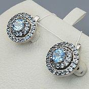 Украшения handmade. Livemaster - original item 925 sterling silver earrings with topaz. Handmade.