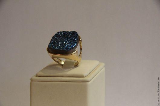 Кольца ручной работы. Ярмарка Мастеров - ручная работа. Купить кольцо с друзой. Handmade. Синий, уникальный подарок, красивое кольцо
