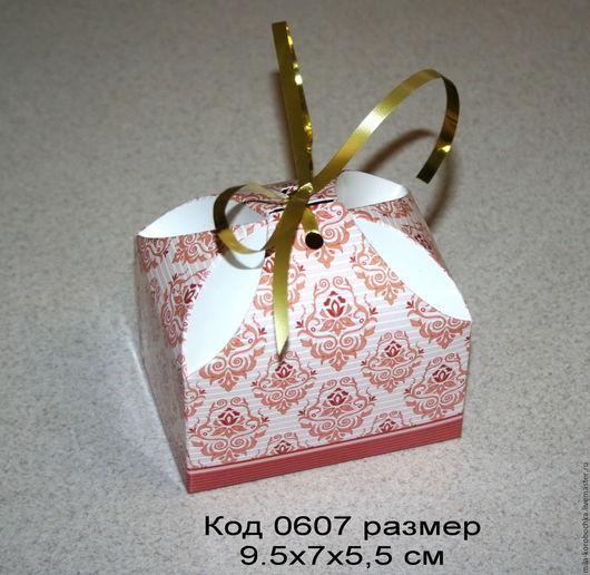 Коробочка `сундучок большой`, бонбоньерка код 0607 размер 9.5х7х5,5 см