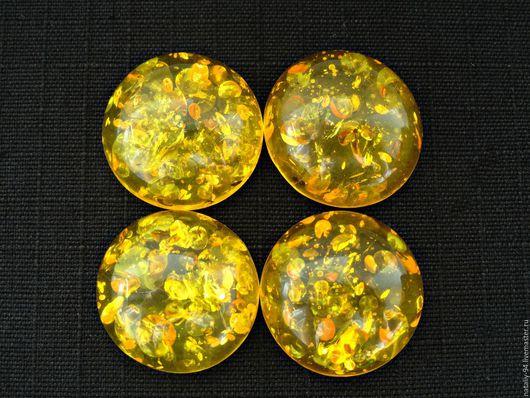 КЯИМ-20-02 кабошон янтарь имитация размер 20*20*7мм