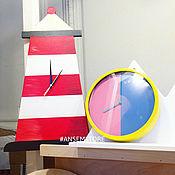 Для дома и интерьера ручной работы. Ярмарка Мастеров - ручная работа Часы маяк Сиггу. Часы в виде маяка. Handmade.